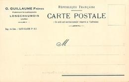 """Longchaumois - """" G. GUILLAUME Frères - Fabricants Lapidaires """" - Cpa Publicitaire Ancienne - Autres Communes"""