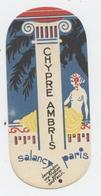 Carte Parfumée, Salancy, Chypre Ambris,Salmon Et Chancy, Tours,coiffeur, Colonne Ionique, Symbole Féminin, Chevelure - Perfume Cards