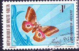 Obervolta Upper Haute - Motte (Gonimbrasia Hecate) (Mi.Nr.: 335) 1971 - Gest Used Obl - Haute-Volta (1958-1984)