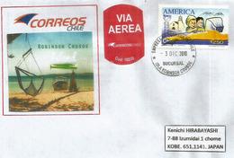 BELLE Lettre De L'ILE ROBINSON CRUSOË, Archipel Juan Fernandez, Chili, Adressée Japon  (RARE) - Rapa Nui (Ile De Pâques)