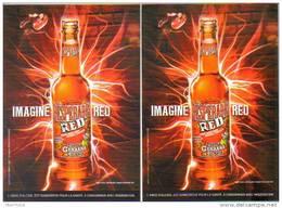 """2 Cartes Postales """"Cart'Com"""" - Desperados (Tequila) (bière) - Imagine Red - Werbepostkarten"""