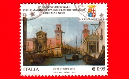 ITALIA - Usato - 2015 - 10° Simposio Marine Del Mediterraneo - Il Ponte Sull'arsenale Di Venezia - Canaletto - 0,95 - 6. 1946-.. Repubblica