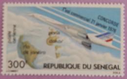 """SENEGAL  ANNEE 1976 YT  PA 151 NEUF """"1ER VOL DU CONCORDE"""" - Sénégal (1960-...)"""