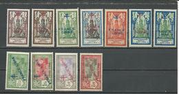 INDE FRANCAISE Scott 157-165, 174, 176 Yvert 160-161, 169-170, 177-182, 182a (11) * Cote 44,50 $ 1942-3 - Neufs