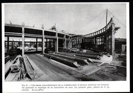 1947  --  AVIGNON  LA ROTONDE DES LOCOMOTIVES EN CONSTRUCTION   3Q433 - Non Classés