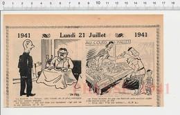 2 Scans Humour De 1941 Haricots Sans Fil Bobine Cours Des Halles Primeur Oeil Organe Occuliste Canne  223XS - Non Classés