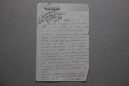 Lettre En-tête Chemiserie Novelty R.Wolff Et A.Bamberger à Marseille, 1915 - Vieux Papiers