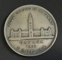 CANADA 1939 - 1 DOLLARO ARGENTO Visita Reale GIORGIO VI - Canada