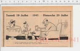 2 Scans Humour De 1941 Bonbons Fillette Poupée Chien / Mendiant Muet 223XS - Non Classés