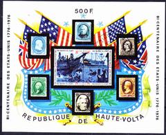 Obervolta Upper Haute - 200 Jahre Unabhängigkeit Der USA (Mi.Nr.: Bl. 31) 1975 - Gest Used Obl - Haute-Volta (1958-1984)