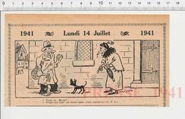 2 Scans Humour De 1941 Cirque éléphant Mendiant Mendicité Rue / Homme Végétarien Chien Mirza 223XS - Non Classés