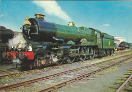 """Locomotive G.W.R. """"King"""" Class  4-6-0. """"King George V"""" Built At Swindon In 1927.  B-3423 - Stations With Trains"""