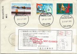Belle Lettre De L'ile Cocos (Ocean Indien)   Postée Vers Osaka. Japon, Et Retour - Cocos (Keeling) Islands