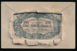 BILJET DE CINQ CENTS FRANCS  1900 - Monnaies (représentations)