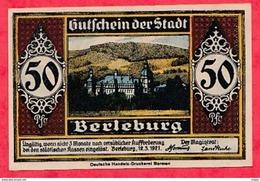 Allemagne 1 Notgeld   50 Pfenning Berleburg   Dans L' état  Lot °3061 - Collections
