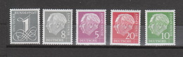 Deutschland BRD **  179yII Geprüft , 182yII, 183yII, 185yII, 285yII Geprüft Heuss Lgd WZ  Katalog 70,00 - [7] République Fédérale