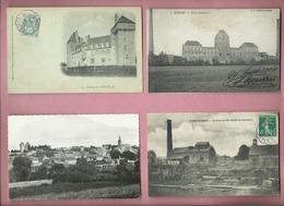 5 Cartes Postales De EPINAC LES MINES - Chateau - Puits Hottinger Vue Générale Le Curier Et Son Chantier De Réparations - Other Municipalities