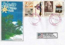 Lettre De SAIPAN Capitale Des Iles Mariannes Du Nord (Océan Pacifique) Adressée En Floride - Mariannes