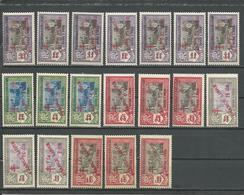 INDE FRANCAISE Scott 191-209 Yvert 198-216 (19) ** Cote 120,00 $ 1943 - Neufs