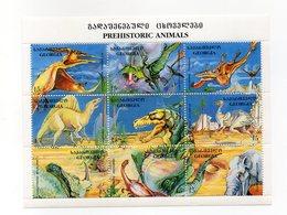 Georgia - 1995 - Foglietto Tematica Animali Preistorici - 6 Valori - Nuovo - Vedi Foto - (FDC13790) - Georgia