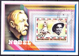 Obervolta Upper Haute - Nobelpreis A. Schweitzer 1952 (Mi.Nr.: Bl. 47) 1977 - Gest Used Obl - Haute-Volta (1958-1984)