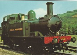 Locomotive G.W.R.  0-4-2T At Buckfastleigh.  B-3425 - Stations With Trains