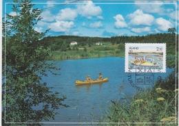 TOURISM TOURISM TOURISMUS TOURISME WATER HOLIDAYS ALAND FINLSND 1991 - MAXIMUM CARD  MI 51 KAYAK - Holidays & Tourism