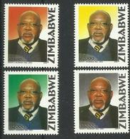 ZIMBABWE 2004 1st DEATH ANNIVERSARY OF SIMON V. MUZENDA SET MNH - Zimbabwe (1980-...)