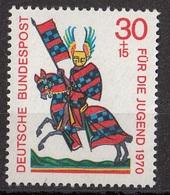 Germania 1970 Sc. B457 Minnesingers Menestrello Ritratto Di Walther Von Metze MNH - Arte
