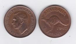 """5 """"PENNY""""  GEORGE VI - Années 1938,41,42,45,47 - Monnaie Pré-décimale (1910-1965)"""