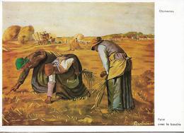 LES GLANEUSES PEINT AVEC LA BOUCHE G BARBEDIENNE - Paintings