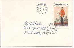 16516) Canada Cover Brief Lettre 1976 BC British Columbia Post Office Postmark Cancel Manson Creek - Brieven En Documenten