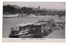 Cpa PARIS La Seine Au Pont Des Arts - El Sena Y Sus Bordes
