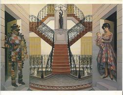L ESCALIER JEAN PIERRE ALAUX 1985 DOUBLE PAGE CARTE NEUVE LIGUE CONTRE LE CANCER - Paintings
