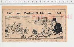 2 Scans Humour Sport Match De Football Vintage Ecole Cancre Grammaire Vache Pré Herbe Machine à écrire 223XS - Vieux Papiers