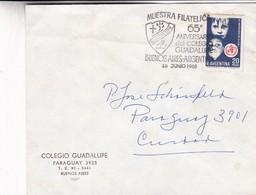 COLEGIO GUADALUPE 65° ANIVERSARIO CIRCULADAS AÑO 1968 AL PADRE VERBITA JOSE SCHÖNFELD - BLEUP - Argentina