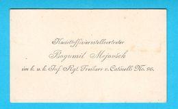 AUSTRIA - HUNGARY ARMY Original Vintage Business Card * Carte De Visite Visitenkarte * K.u.K. Armee Osterreich - Visiting Cards