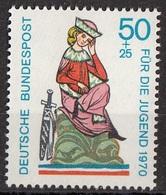 Germania 1970 Sc. B458 Minnesingers Menestrello Ritratto Di Walther Von Der Vogelweide MNH - Musica