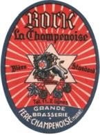 """Ancienne étiquette De Bière """" BOCK La Champenoise"""" TBE - 51 Grande Brasserie Fère-Champenoise - Beer"""