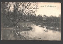 Liège - Le Lac Au Square D'Avroy - Tampon Publicitaire Spa Carbogas - 1917 - Liege