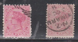 NEW ZEALAND Scott # 61 Used X 2 - Shades - 1855-1907 Crown Colony