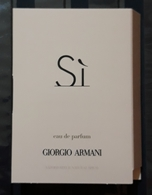 MUESTRA DE PERFUME 1.2 Ml. SI De GIORGIO ARMANI - Eau De Perfum - Muestras De Perfumes (testers)