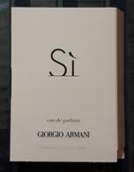 MUESTRA DE PERFUME 1.2 Ml. SI De GIORGIO ARMANI - Eau De Perfum - Perfume Samples (testers)