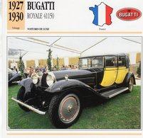 Bugatti T41 Royale 'Berline De Voyage' Chassis 41150 (1927)  - Voiture De Luxe  -  Fiche Technique/Carte De Collection - Turismo