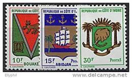 Côte D'Ivoire, N° 289 à N° 291** Y Et T - Ivory Coast (1960-...)