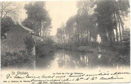 St Ghislain NA22: Le Pont De L'Ile De L'Abbaye 1904 - Saint-Ghislain