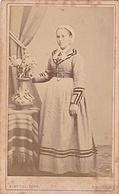 PHOTO  CDV 19 Eme JEUNE FEMME TOURANGELLE ET SA COIFFE Cabinet DUVAL  A TOURS - Old (before 1900)