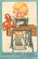Publicité SINGER à Macon - Machine à Coudre - Werbepostkarten