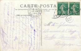 Cachet Manuel Du Chiffre 437 Dans Un Cercle - POUR LA BELGIQUE - Marcophilie (Lettres)
