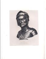 """Eau-forte: """"DANTE. Bronze Du XVème Siècle"""" Par Gazette Des Beaux-Arts - Engravings"""